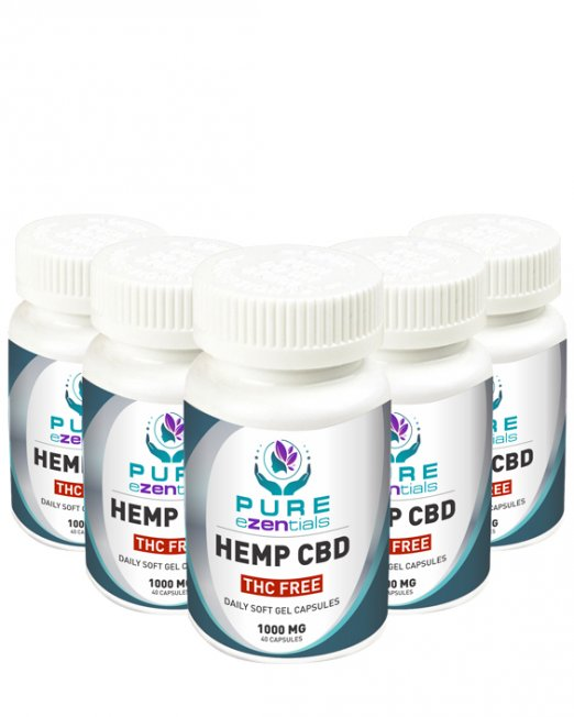1000 mg cap thc free 5 pack