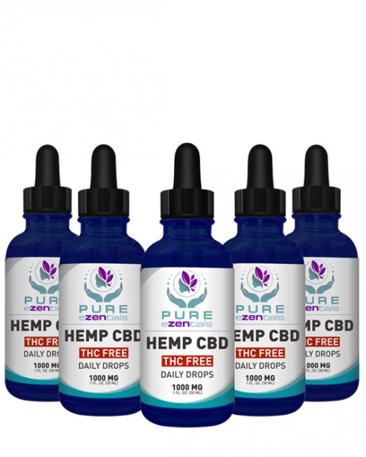 1000 mg thc free oil 5 pack